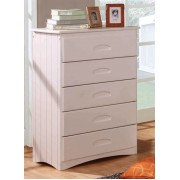 White 5-Drawer Chest